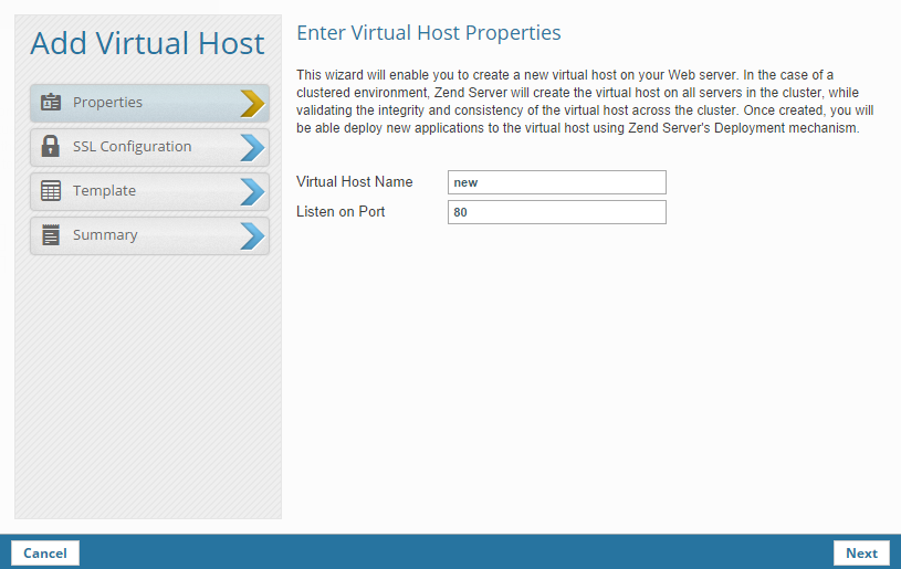 how to add virtual host in apache