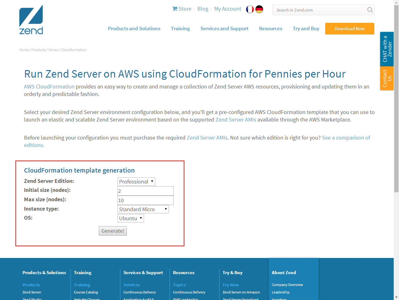cloudformation template generator - setting up a zend cluster zend server 2018 0