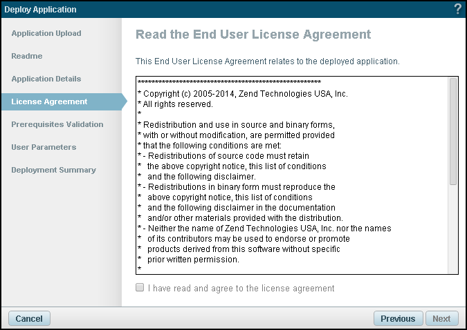 The License Agreement Dialog Is Displayed.