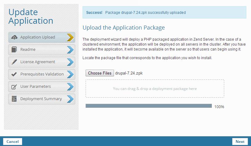 Updating an Application