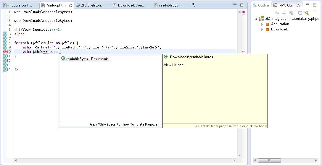 Zend Framework 2 Integration in Zend Studio