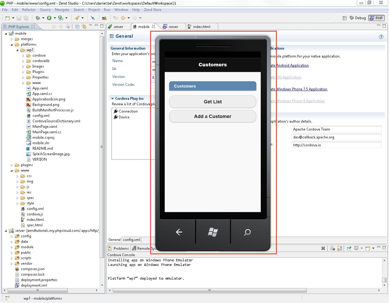 Developing Mobile Applications with Zend Studio - Zend Studio 11
