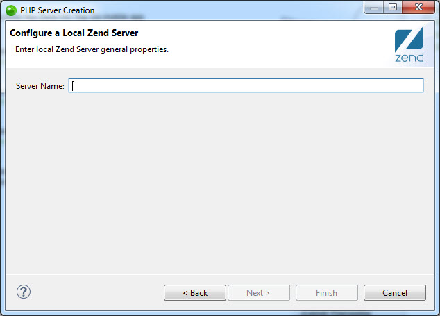 Adding a Local Zend Server