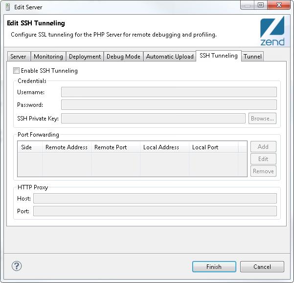 Setting Up SSH Tunneling- Zend Studio 13 6