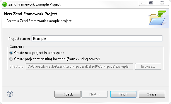 Creating and Running a Zend Framework Example Project - Zend