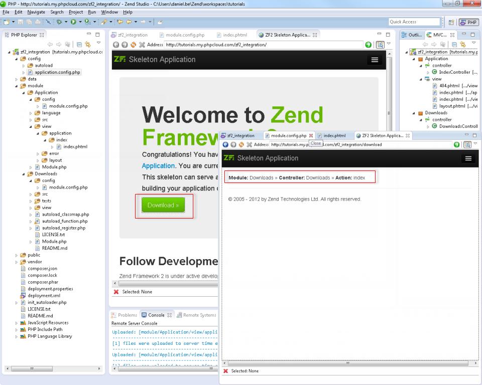 Как сделать сайт на zend framework