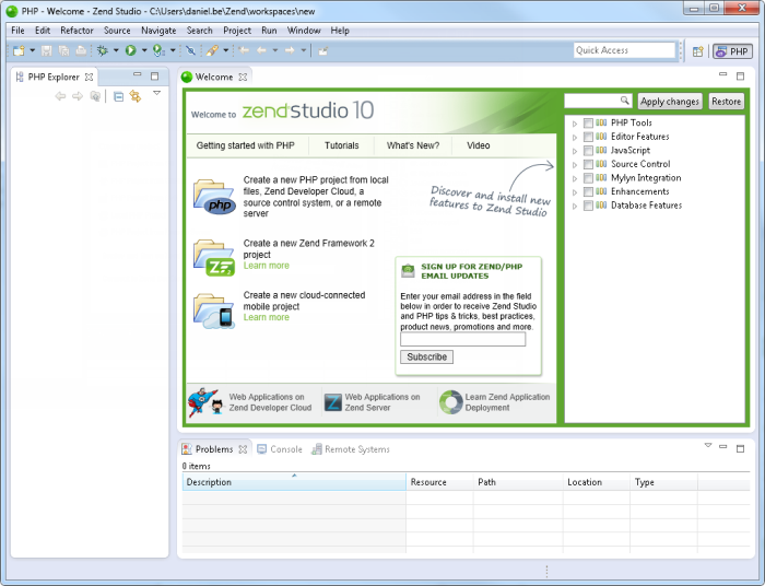 Installing Zend Studio on Windows - Zend Studio 10 0/10 1