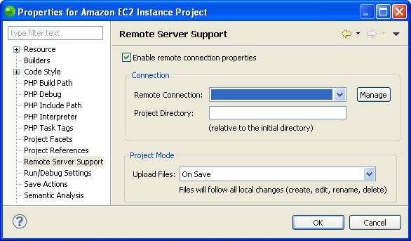 Adding an Amazon EC2 Remote Connection Profile- Zend Studio 13